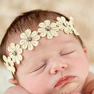 Wedding Elastic Girl Rhinestone Sunflower Hairband Baby Headband Bohemia