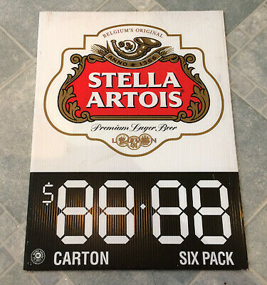 Rare Stella Artois Beer Advertising Corflute Double Sided Display Sign