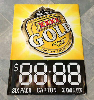 XXXX Gold Lager Beer Advertising Corflute Double Sided Display Sign