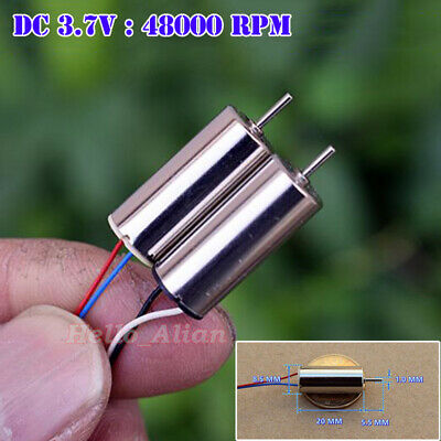 2PCS Mini 8.5mm*20mm Coreless Motor 8520 DC3.7V 48000RPM High Speed DIY RC Drone
