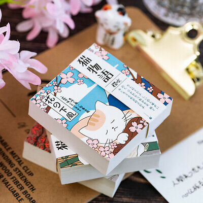 """""""Japanese Cat Pocket"""" 1pc Cute Diary Notebook Small Journal Memo Removable Paper"""