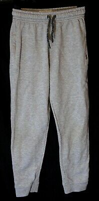 Boys Next Light Grey Marl Drawstring Waist Casual Cuffed Joggers Age 8 Years