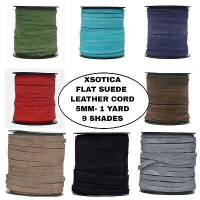 Xsotica- 5.0 MM Flat Suede Leather Cord-1 Yard