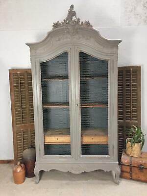 Antique French Armoire / Wardrobe / Bookcase