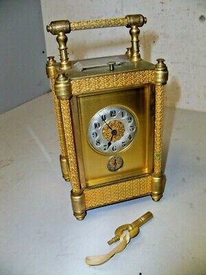 Large Fancy French Hour Repeater Carriage Clock