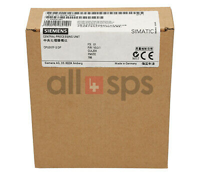 Simatic S7-300, Cpu 317F-2Dp, Zentralbaugruppe, 6Es7317-6Ff04-0Ab0 (Ns)