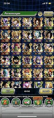 DOKKAN BATTLE gros compte Global 27 LR END GAME
