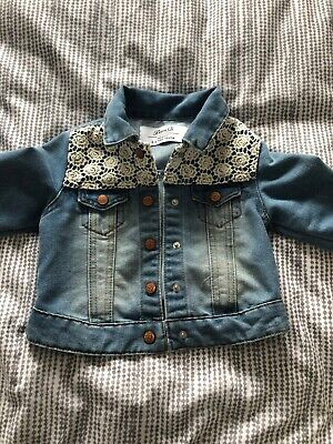 Girls denim jacket age 3-4 years