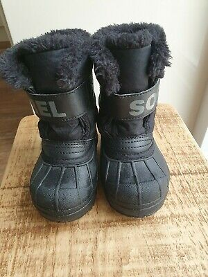 Sorel Toddler Snow Boots Black UK Size 6
