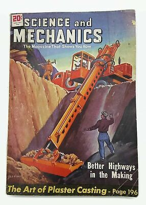 Vintage Science and Mechanics April-May 1948 Magazine Better Highways
