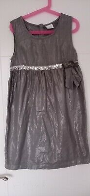 Girls Next Grey Dress with bow Age 11years