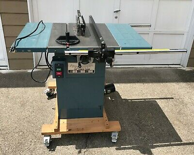 Industrial T36727 10 In Contractor Style Table Saw, 3 HP, 110v/230v Single Phase
