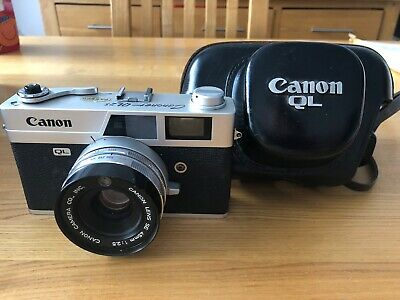 Canon Canonet QL25 Film Camera & Original Leather Case