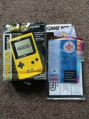 Nintendo Game Boy Pocket - Yellow  - Box and Manuals ONLY 99p Start