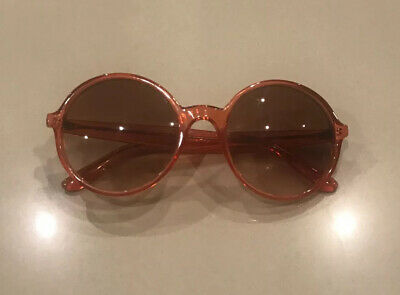 Marc Jacobs Round Perspex Plastic Pink Sunglasses Glasses In Case