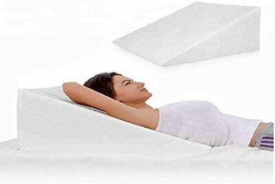 Bamboo Memory Foam Wedge Pillow With Cover For Acid Reflux Back Support Snoring