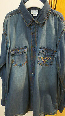 Vertbaudet Brand New Boys Blue Jeans Shirt Top Harvey's Shop  Age 12 Years