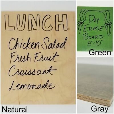 8x10 Wooden Dry Erase Boards in Various Colors
