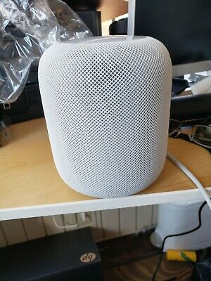 Apple HomePod Voice Enabled Smart Assistant - White (small tear in mesh - photo)
