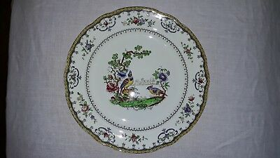 Early 1900s 10.25  in / 26cm Copeland Spode Chelsea Birds plate