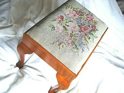 antique vintage bedroom embroidered dressing table stool