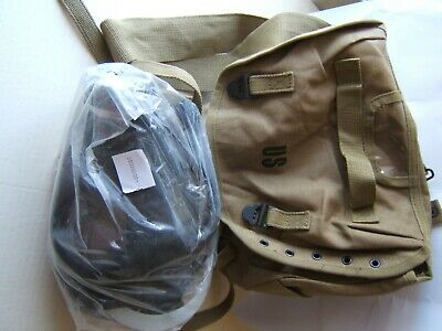 New Military Surplus field gear GAS MASK with canister & shoulder bag carrier