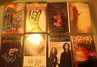 Classic 80's Rock & Blues Cassette Tapes lot of 8