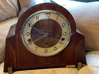 Vintage Foreign Mantel Mantle Clock For Restoration Spares Or Repair