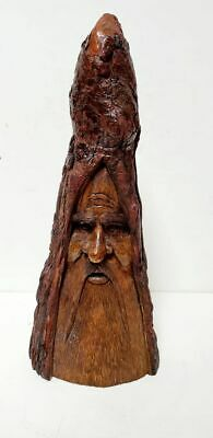 Vintage Spirit Of Nature Signed Numbered Tree Face Figurine Green Man Tree Man