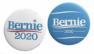 Bernie Sanders 2-Pack Campaign 2020 Full-Size 2.25-inch Button Pin Badge
