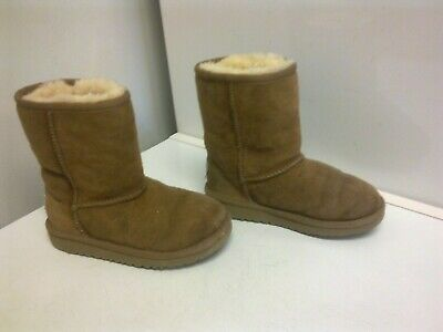 REAL SHEEPSKIN FUR WARM WINTER BOOTS  - 11 UK / 29  child
