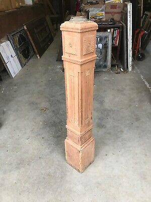 Mark Antique Stripped Sherry Victorian Newell post for stairway 48 x 7.5 square