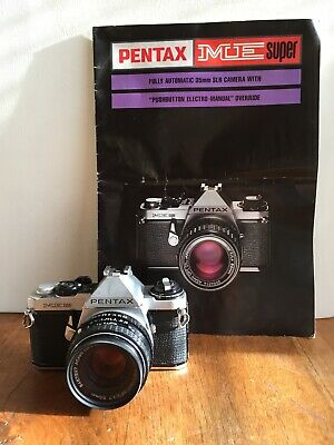 Pentax SLR ME super Film Camera kit with 3 lens