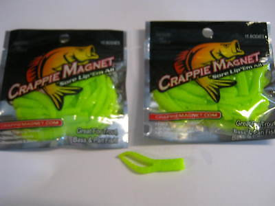 Leland Lures Crappie Magnets 2 packs 30 pc total org //chart glow