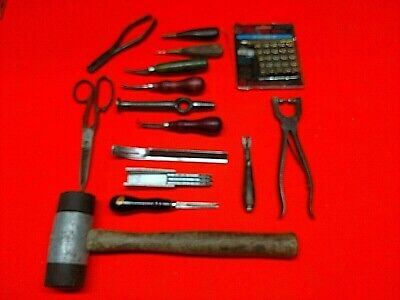 Leather Tool - Lot Of 14 Leather Working Tools - C.S. OSBORNE AND MORE