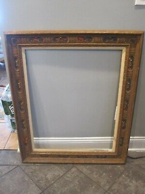antique large solid wood picture frame