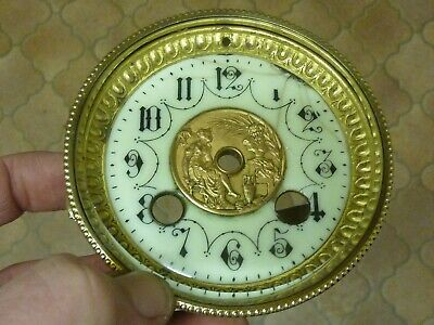 Antique French Clock Bezel-Ornate Dial-Falseplate--(Hl)  Free Uk Post