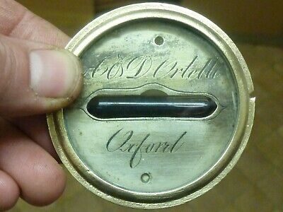 19th CENTURY WHEEL BAROMETER LEVEL COMPLETE- ORTELLI of OXFORD   (NG2)