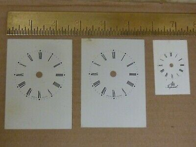 3 Useful Carriage Clock Dials--(3D)  Free Uk Post