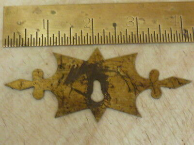 19th CENTURY ORNATE CAST BRASS FURNITURE ??  KEYHOLE ESCUTCHEON