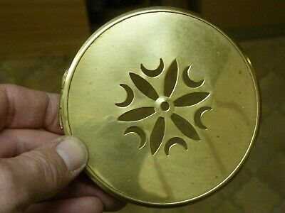 Small Antique French Clock Pierced Brass Back Door  (Vb) Free Post