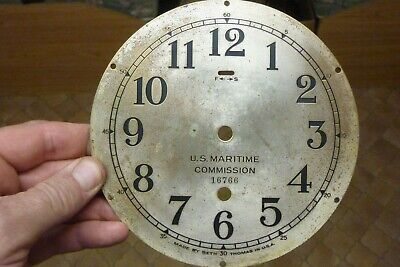 """Old-Antique Seth Thomas 6"""" Engraved Dial & Falseplate --  (St)"""