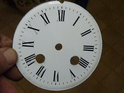 "Good Antique French Clock 3 3/4"" Enamel Dial  -- Free Uk Post  (W3)"