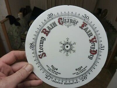 "Good Old Aneroid Barometer 8"" Milk Glass Dial -Free Post (Rn)"