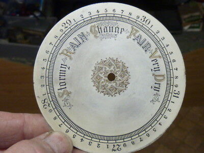 Good Old-Antique ? Aneroid Barometer Silvered-Engraved Dial (B)
