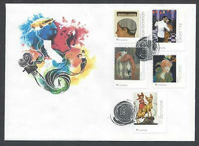 2018 Great Canadian Illustrators Limited FDC with Booklet stamps