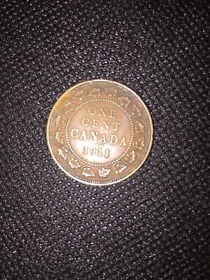 Canada 1 Cent 1911- Large Cent George V