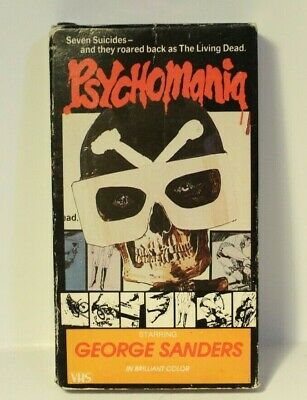 Psychomania VHS Tape Horror George Sanders