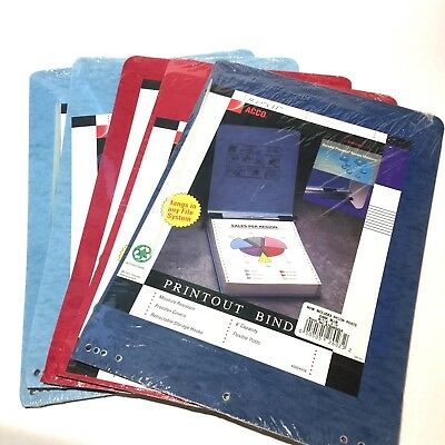 """4 Acco Accopress Binders 11/""""X 8½Centers 3/"""" Cap Black In Color"""