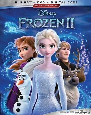 Frozen II 2  2020  [Blu-ray+DVD+DIGITAL CODE] NEW W/ SLIPCOVER